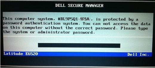 unlock dell laptop password