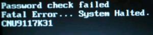 Fatal erro system Locked
